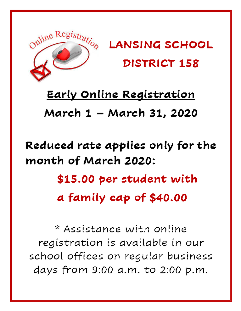 Early Online Registration