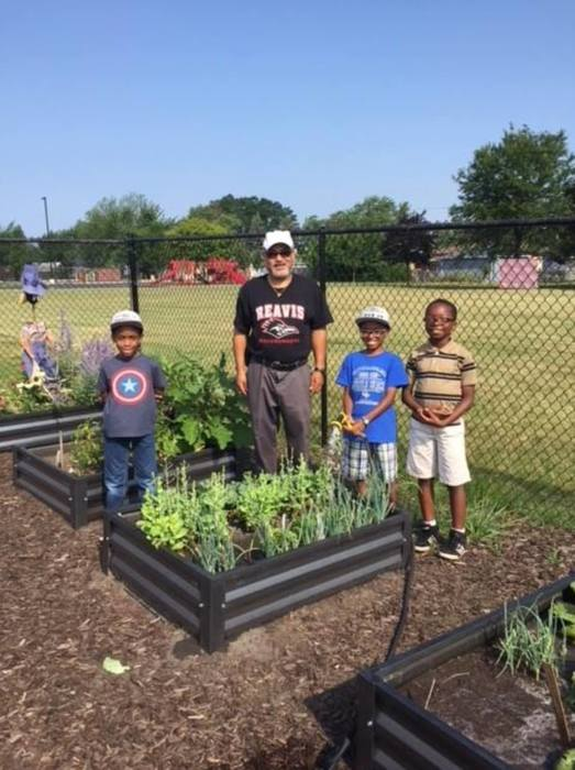 Students and their family members are continuing to harvest in the Reavis garden. Some of the produce has been donated to the Lansing Food Pantry.